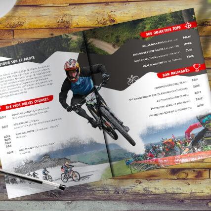 Carte coureur vélo